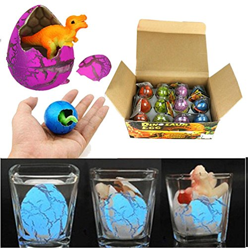 12pcs magic hatching dinosaur add water growing dinosaur egg inflatable toy for children