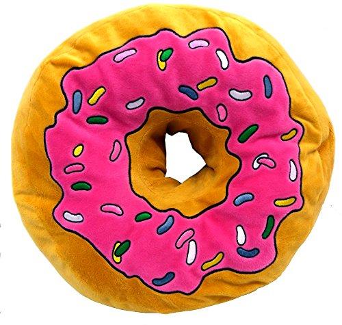 Brigamo 16840 - XXL Plüsch Donut Kissen, Kuschelkissen extra dick und extra flauschig thumbnail