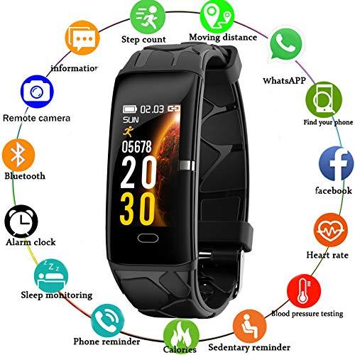 WISHDOIT Fitness Trackers Intelligentes Armband Pulsmesser IP67 Wasserdicht Aktivitäts Tracker mit Schlafmonitor Schrittzähler Uhr für Damen Herren Kinder,Für iOS Android (Android Fitness-tracker Uhr)