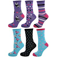 Zest Ladies Cotton Rich Assorted Design Socks