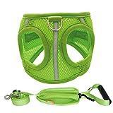 Y&G Imbracature Gilet PET, Traspirante Outdoor Forte Gilet Dog Imbracature Con Cani Piccoli E Grandi, Verde, 4 Dimensioni,S