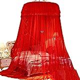 Moskitonetz Hält Insekten und Fliegen fern - Ideal für den Innen- und Außenbereich, Spielplätze, für die meisten Betten, Rot (größe : 2m (6.6 feet) Bed)