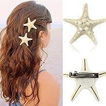 pestañas postizas BBsmile Mujeres de Europa Lady Lady Girls Pretty Natural Starfish Star Beige Pinza de pelo
