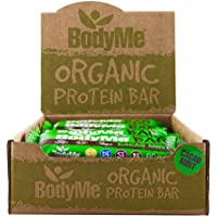 BodyMe Organic Vegan Protein Bar | Raw Cacao Mint | Box of 12 x 60g | With 3 Plant Proteins