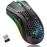 BENGOO KM-1 Souris Gamer sans Fil, Souris Sans Fil USB avec Conception de Coque en Nid d'Abeille, 800-1600-3200 DPI…