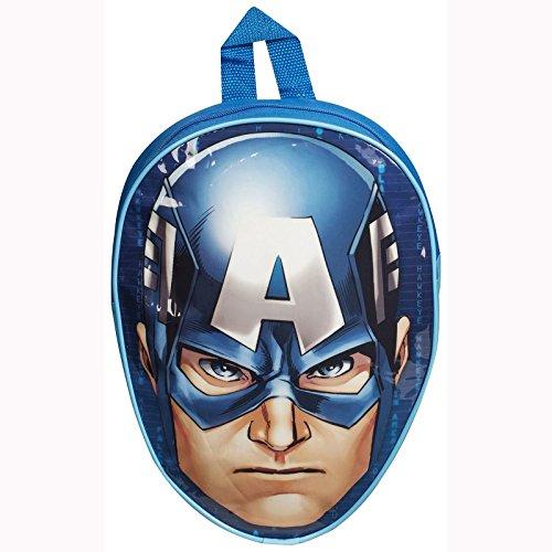 Sambros 1-8214 - Zaino Per Bambini A Forma Di Testa Captain America