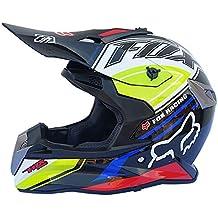 LKJCZ Casco De Motocross Adulto, Casco De Motocross De Cuatro Estaciones, Casco De Pedal
