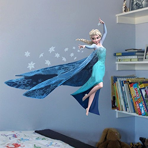 generic-frozen-queen-elsa-adorable-sweety-home-sticker-decal-diy-family-sticker-pvc-fashion-wall-dec