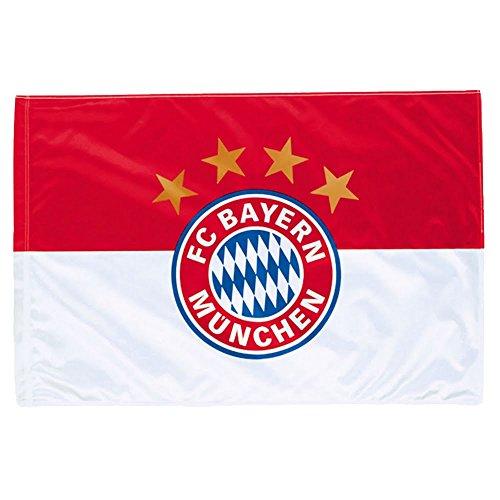 FC Bayern Fahne mit Druckmotiv Fc Bayern rot/weiß