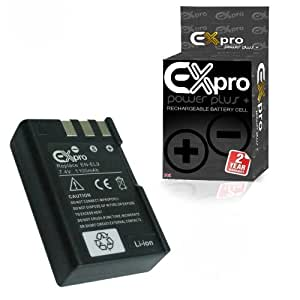 Ex-Pro High Power Plus+ 1100mAh Lithium Ion Digital Camera Replacement Battery for Nikon D60/D40/D40X/D3000/D5000