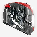 Shark Speed-R 2 Carbon Skin Integralhelm, Farbe schwarz-rot, Größe M(57/58)