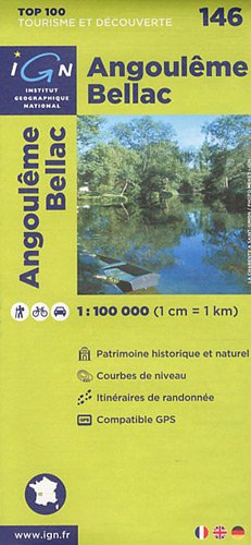 TOP100146 ANGOULEME/BELLAC 1/100.000 par COLLECTIF
