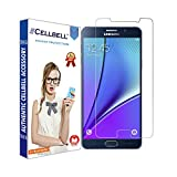 CELLBELL Silicone Tempered Glass Screen Protector with Installation Kit for Samsung Galaxy Note