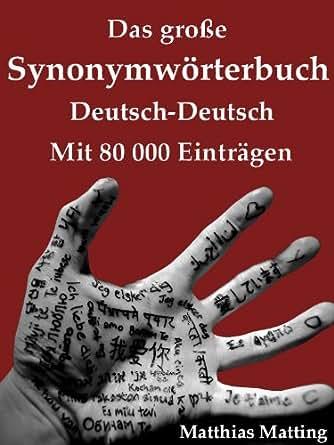 Das Große Synonymwörterbuch Deutsch Deutsch Mit 80000 Einträgen