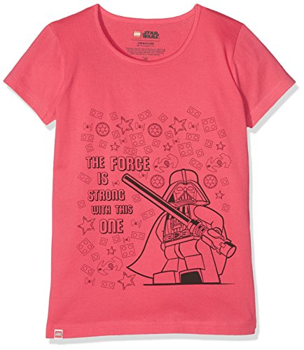 (LEGO Mädchen T-Shirt M-71173, Rot (Coral Red 315), 6 Jahre)