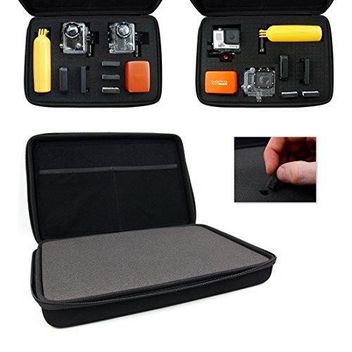 DURAGADGET Mallette de rangement rigide personnalisable pour caméras embarquées PNJ AEE MagiCam S51, S71, S70+ et S70 (Extrême, Extrême F2, Light, Light F2) Gamme S, MD10, SD21G et leurs accessoires