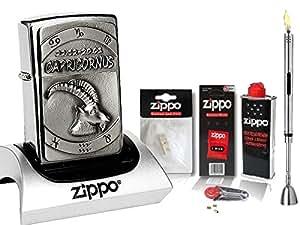 Zippo briquet 3D emblem-signe du zodiaque cAPRICORNE xL &-briquet-chrome brossé