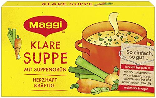 Maggi Klare Suppe mit Suppengrün, 8 Würfel, 168 g (8l Wasser)