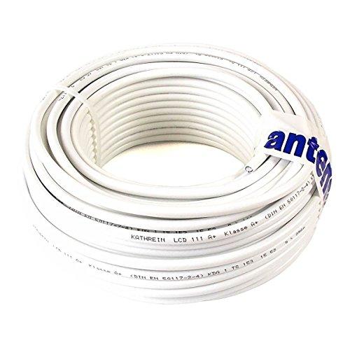 40 m (Meterware) Kathrein LCD 111 A+ Koax Kabel RG6 1,13/4,8/6,9 mm NEU: Class A+, weiß, PVC Rg6-kabel