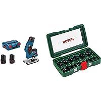 Bosch Professional Affleureuse Sans Fil GKF 12V-8 (2 batteries 3,0 Ah, 12 V, Ø de fraise: 8 mm, L-Boxx) & Coffret Bosch…