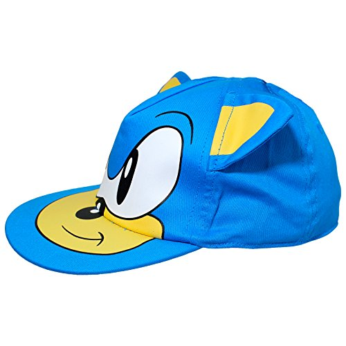 Image of Kids Blue Sonic The Hedgehog Cap Hat Age 4-8 Years 3D Ears