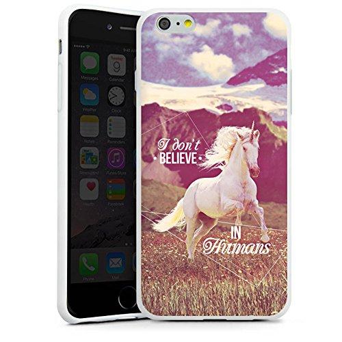Apple iPhone X Silikon Hülle Case Schutzhülle Einhorn Unicorn Sprüche Silikon Case weiß