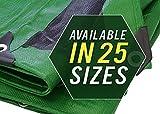 Hochleistungs dicke Material wasserdichte zeltplane Abdeckung, 3 X 6 M, grün/schwarz