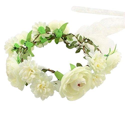 hlhn handgefertigt Blumen Girlande Halo für Büro Hochzeit Dekoration Home Schreibtische Tische Garten Outdoor Party - Bouquet Hochzeit Strand