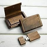 Pixelstudio USB-Stick 16 GB mit edlem Holz Etui | Geschenk Set, ideal zb. für Hochzeitsfotografen, Urlaubsfotos, Fotos v. Taufe, Hochzeitsfotos und viele weitere Anlässe. In Schachtel, Box, Schatulle