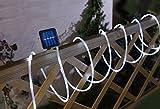 BUVTEC Solar Lichterschlauch 10 m mit 100 weissen LED Gesamtlänge 12 m Lichterkette Solar Lichterkette LED Lichterkette