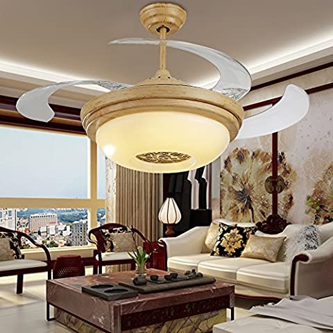 Stealth lampadari di ventola Remote sala ristorante è reminiscenza di ventilatore da soffitto cinese LED luce della ventola