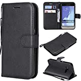 Azihone Compatible Coque Samsung Galaxy J120/J1 2016 Étui de Protection Porte-Cartes en Cuir Portefeuille Multi-Usage Housse en...