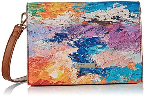 Desigual - Bag Landscape Nimbus Imperia Women Desigual, Bolsos bandolera Mujer, Multicolor, 10x16x23...