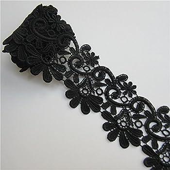 Black Trim & Embellishments 2 Yards Leaf Shape Lace Edge