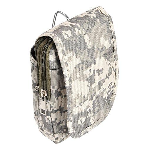 Faleto Herren Multifunktional Outdoor Reisen Sport Tasche Hüfttasche Bauchtasche Gürteltasche Handytasche Tasche Waist Bag für Camping Reise Wandern Camouflage#02