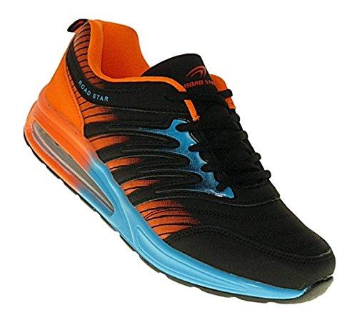 Bootsland 515 Neon Turnschuhe Sneaker Sportschuhe Herren Damen, Schuhgröße:45