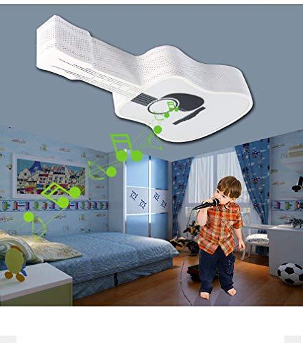 Gitarrenmusik Deckenleuchte Augenschutz Energieeinsparung Bügeleisen Smart Bluetooth Telefon Kinderzimmer Schlafzimmer Licht, Weiß, 65 * 30 cm Led - Schlafzimmer, Telefon