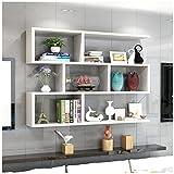 Büroschränke & -ablagen Regale Drei Schichten Desktop Wall Unterstützung Layered Shelf Landing Hängeschrank Show Rollcontainer (Color : Weiß)