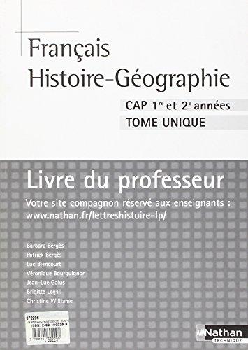 FRANCAIS/HIST-GEOG CAP PROF