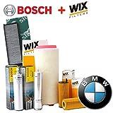 Inspektionskit 4Filter verschiedenen Wix und Bosch (WL7236, 1457431708, WA6573, V3229)