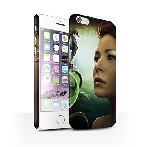 Officiel Elena Dudina Coque / Clipser Matte Etui pour Apple iPhone 6 / Sonrisas/Dauphin Design / Agua de Vida Collection Mer Profonde/Hippocampe