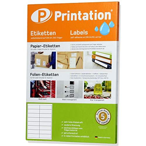 Etiketten 99,1 x 34 mm WETTERFEST transparent auf A4 - 2 x 8 Stück/Seite 160 Folienetiketten 99,1x34 selbstklebend mit Laser Drucker bedruckbar