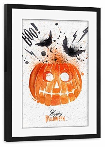 Rahmen Schwarz 45x30 cm Pumpkin Halloween von Anna Kozlenko - gerahmtes Poster ()