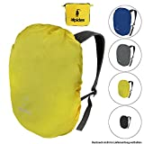 ALPIDEX Rucksack Regenschutz NO RAIN Regenhüllen verschiedene Größen und Farben, für Rucksäcke aller Marken, mit Kordelstopper und integriertem Packsack