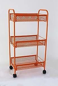 Deneb Premium kitchen Trolley (Orange)
