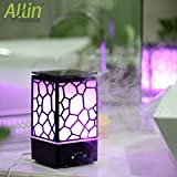 #7: Allin Exporters Essential Oil Diffuser Aromatherapy Ultrasonic Diffuser and Humidifier Cool Mist Aroma Diffuser with 7 Color Romantic Warm Lights Changing and Waterless Auto Shut-off for Home (Black) - 200 ML Tank Capacity