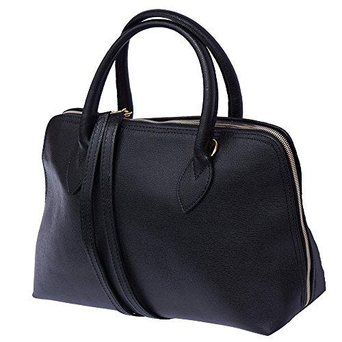 Saffiano Leder Frau Business-Tasche 308 Schwarz