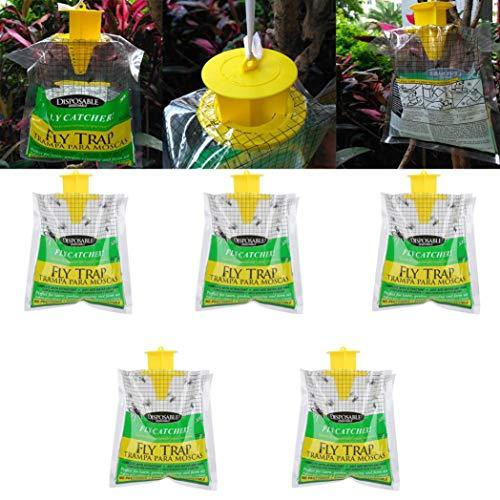 Preisvergleich Produktbild LCLrute Einweg-Fliegenfänger-Steuerfalle im Freien mit Anziehungsmittel-Insektizid Frei