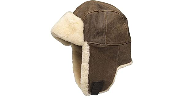 4828e059de2 UGG Womens Lockwood Shearling Trapper Hat Chestnut - Small U1799   Amazon.co.uk  Clothing