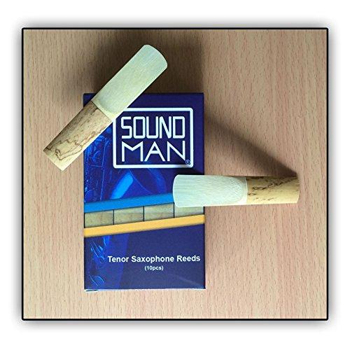 10 Ance per Sassofono Tenore Soundman Ancia Saxo Sax Saxophone Reeds (2,0)